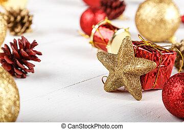 크리스마스, 장난감, 배경