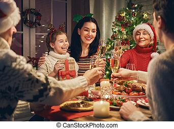 크리스마스., 축하한다, 가족