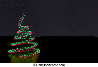 크리스마스 트리 빛