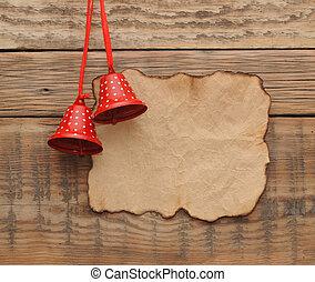 크리스마스 훈장, 와, 공백, 늙은, 종이, 통하고 있는, 그만큼, 나무로 되는 벽
