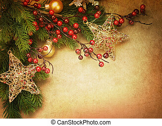 크리스마스, retro, 카드