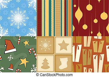 크리스마스, seamless, 패턴