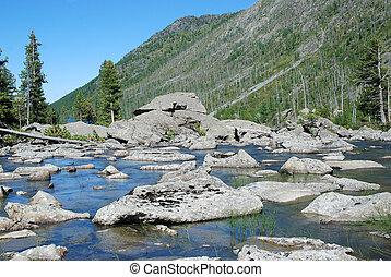 큰, 돌, 에서, 그만큼, 호수