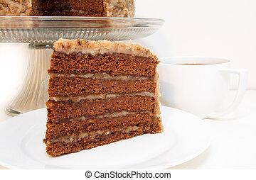 클로우즈업, 베다, 쵸콜릿 케이크, 독일어