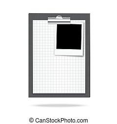 클립 보드, 사진, 종이