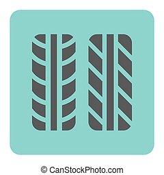 타이어 기호, 아이콘