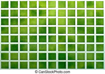 타일, 녹색