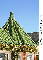 타일, 작다, 탑, 지붕
