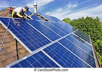 태양 전지판, 설치