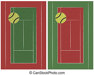 테니스 코트, 공