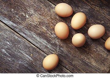 테이블, 달걀, 나무