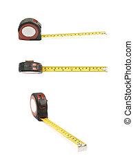 테이프 측정, 도구, 고립된