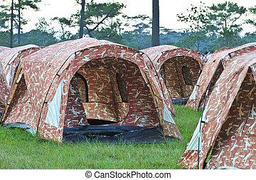 텐트, 시골의,