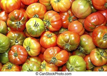 토마토, 야채, raff, 시장, 토마토