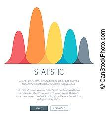 통계, 제출, 와, 다채로운, 막대 그래프