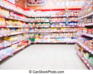 통로, 슈퍼마켓, 희미해지는