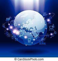 통신, 세계