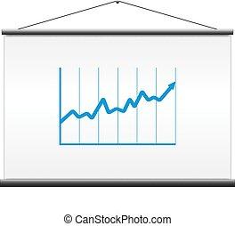투영기 스크린, 와, 그래프