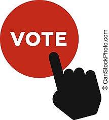 투표, 단추