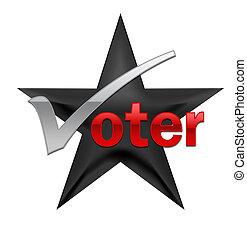 투표, 삽화