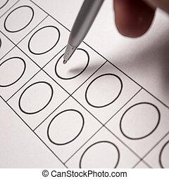 투표, 서류