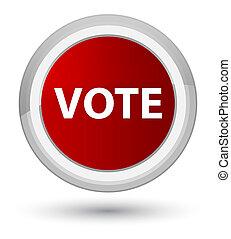 투표, 초기, 빨강, 둥근, 단추