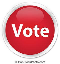 투표, 프리미엄, 빨강, 둥근, 단추