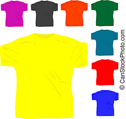 티셔츠, 폴로, 세트, men\'s, 고립된