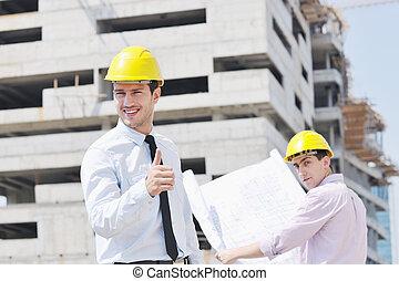 팀, 의, 건축가, 통하고 있는, 건축 용지