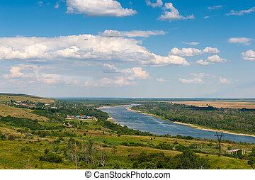 파노라마, 강, 보이는 상태