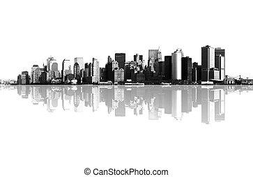 파노라마, 맨해튼, 요크, 새로운