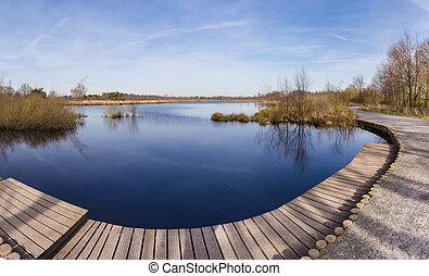 파노라마, 의, meerbaansblaak, 호수, 에서, de, 껍질