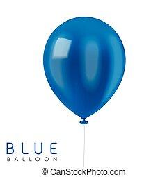 파랑, 끝내다, balloon, 위로 모양