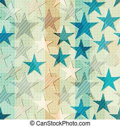 파랑, 떼어내다, 별, seamless