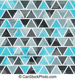 파랑, 떼어내다, 삼각형, seamless