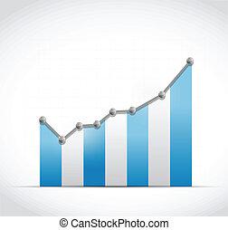 파랑, 색, 사업, 점, 그래프, 삽화, 디자인