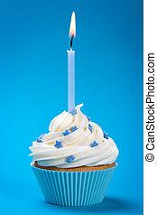 파랑, 생일, 컵케이크