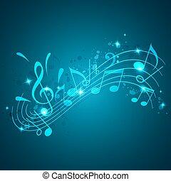 파랑, 음악, 배경