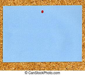 파랑, 종이, 통하고 있는, board.