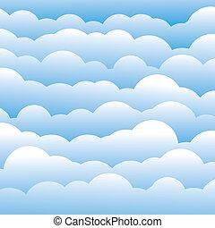 파랑, 층, 구름, 이것, 빛, 떼어내다, 포함한다, -, 삽화, 색, 벡터, 배경, (backdrop), 3차원, graphic., 푹신한