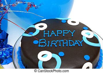 파랑, 케이크, 생일