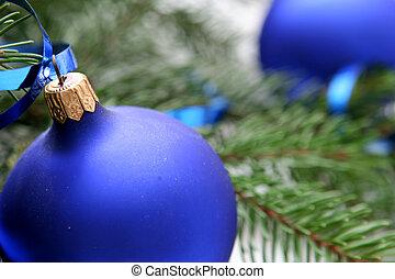 파랑, 크리스마스, 전구