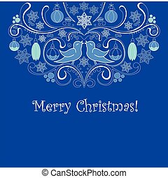 파랑, 크리스마스 카드