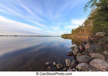 파랑 호수, 와..., 하늘