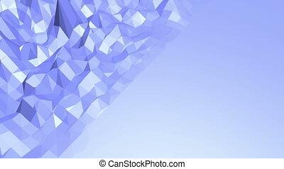 파랑, 환경, 떨리는, 공간, 현대, 배경, 표면, 또는, polygonal, poly, environment., 낮은, 박동하는, 유행, 평판이 좋은, 비어 있는, 기하학이다, 3차원, 만화, design.