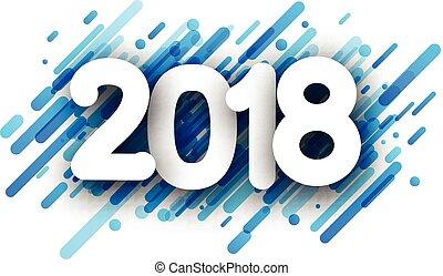 파랑, 2018, 새해, 배경.
