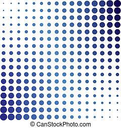 파랑, halftone, 점