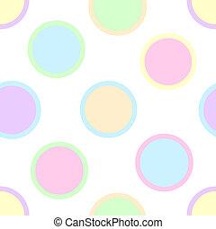 파스텔, 물방울 무늬