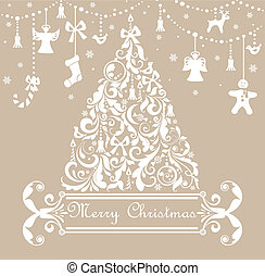 파스텔, 크리스마스 카드, 인사