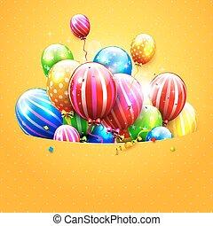 파티, 생일, 또는, 본뜨는 공구